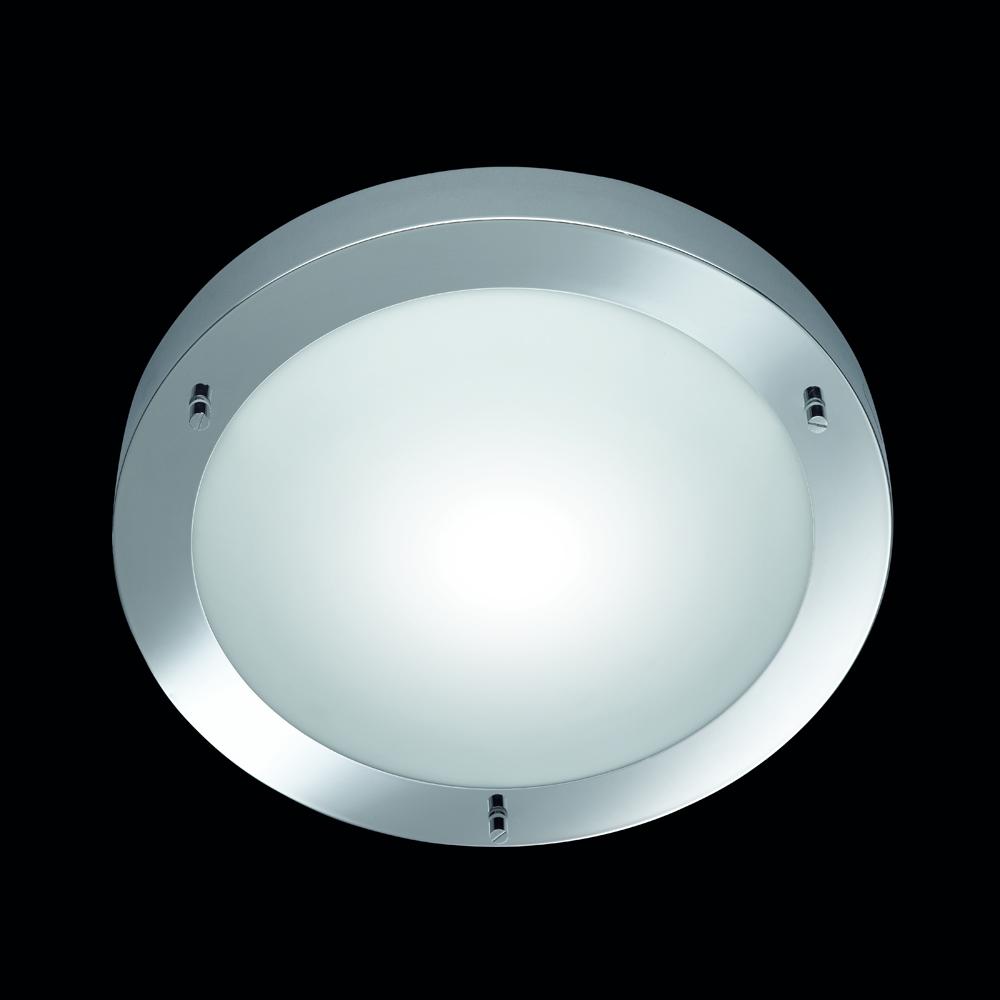 badezimmer leuchte in chrom mit glas von trio