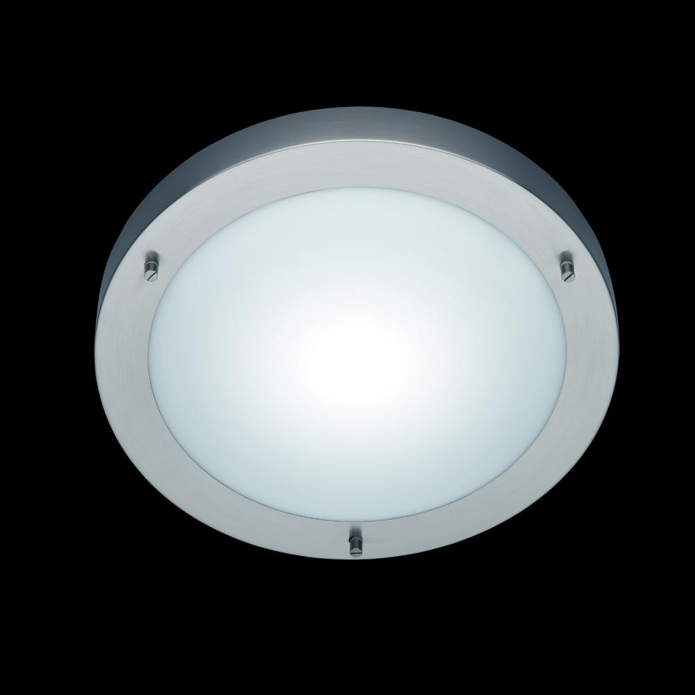 badezimmer leuchte in nickel matt mit glas von trio. Black Bedroom Furniture Sets. Home Design Ideas