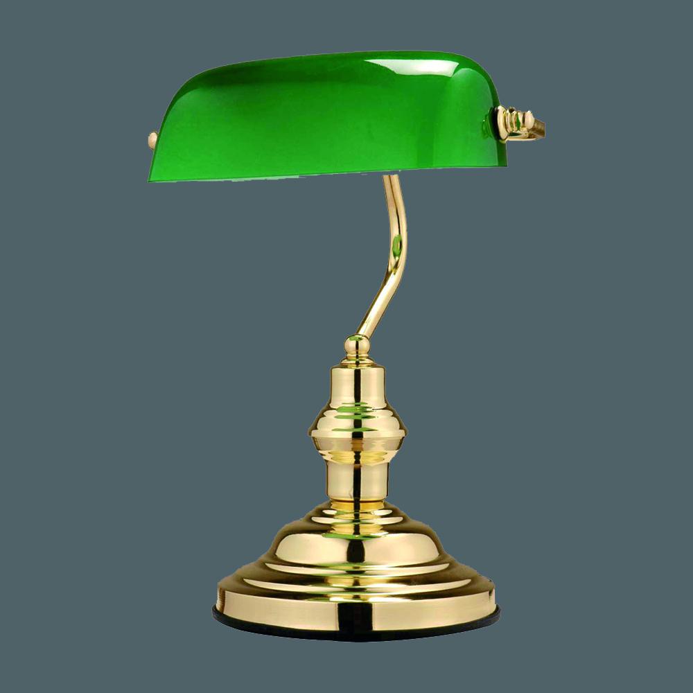 die traditionelle tischlampe mit gr nem schirm veredelt. Black Bedroom Furniture Sets. Home Design Ideas