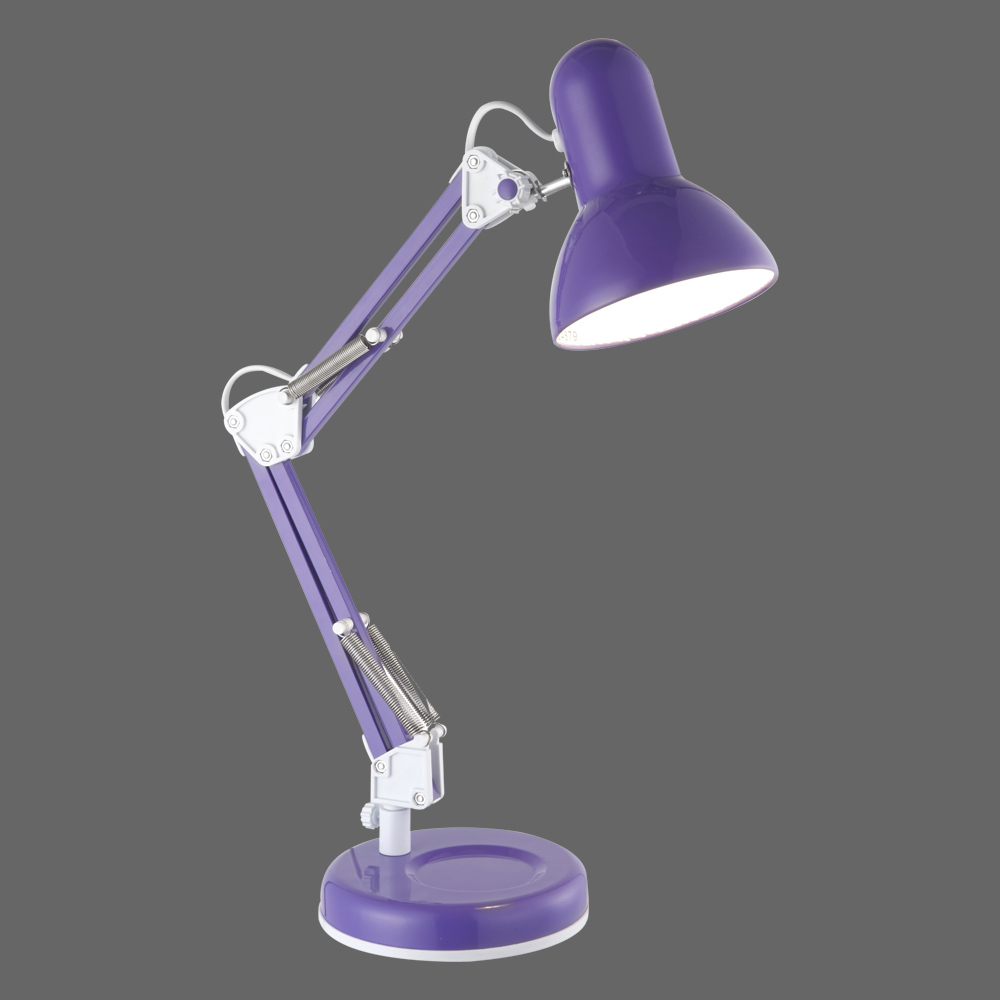 klassische b ro tischlampe lila. Black Bedroom Furniture Sets. Home Design Ideas