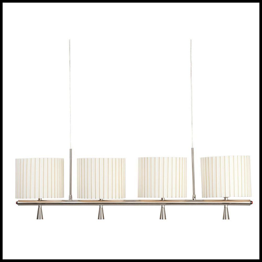 h ngelampe mit led spots und textilschirmen in weiss. Black Bedroom Furniture Sets. Home Design Ideas
