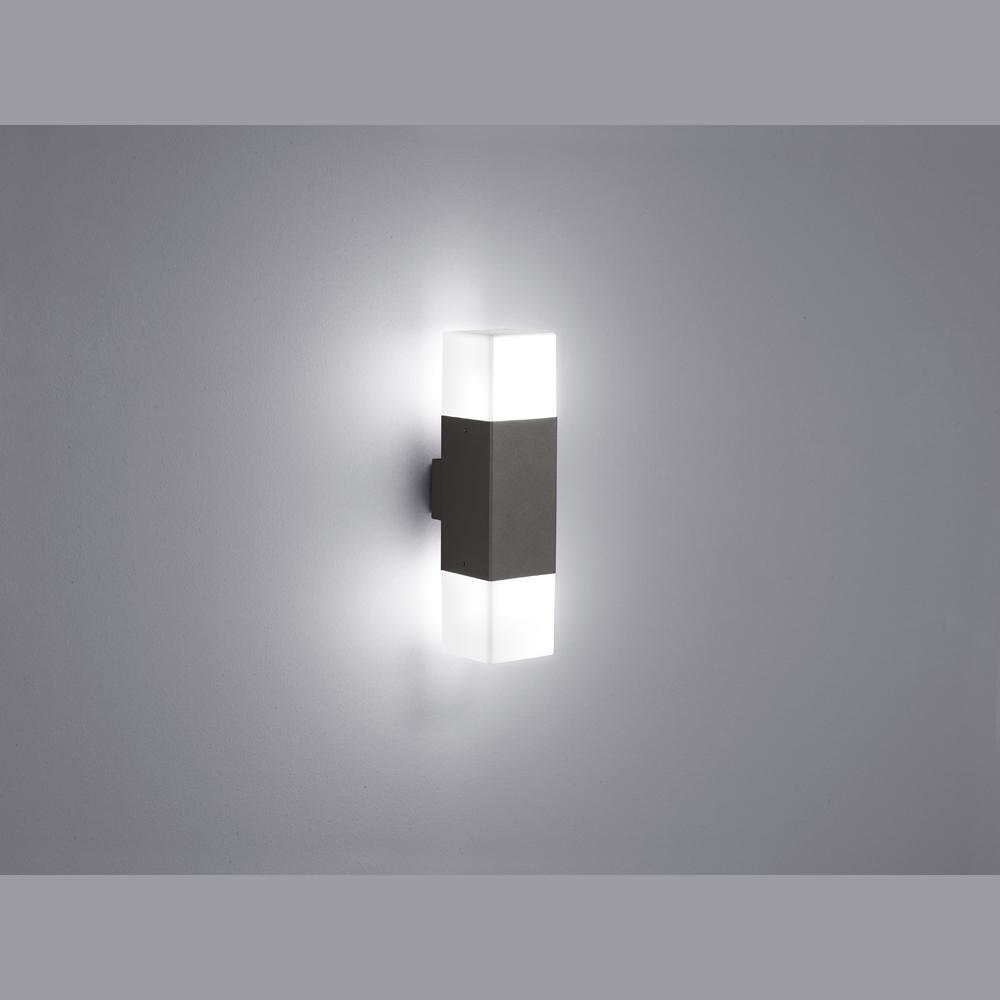 led kubische aussenleuchte strahlt nach oben und unten. Black Bedroom Furniture Sets. Home Design Ideas