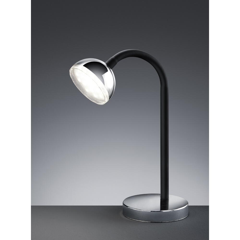 led tischlampe flexibel mit standfuss chrom. Black Bedroom Furniture Sets. Home Design Ideas