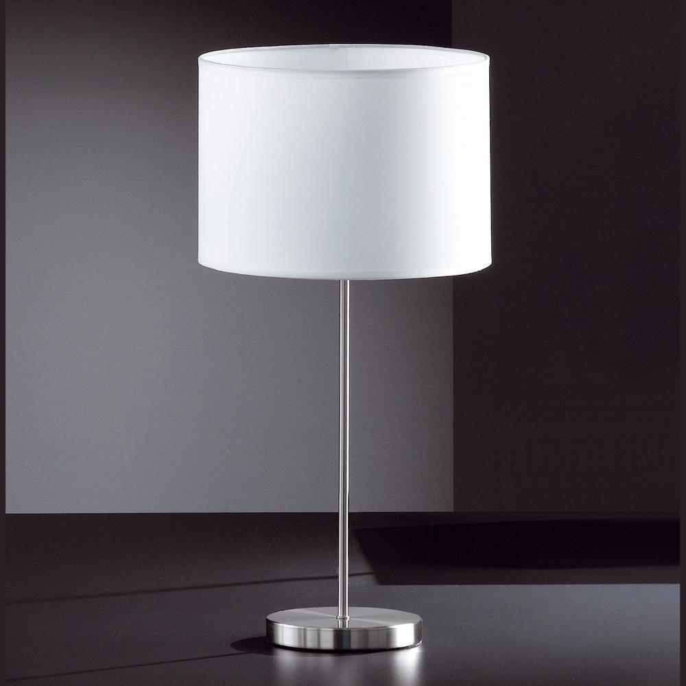 modern elegante tischlampe mattnickel. Black Bedroom Furniture Sets. Home Design Ideas