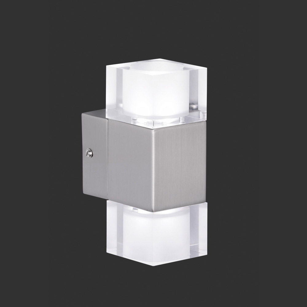eckige designer wandlampe mit led technik von osram. Black Bedroom Furniture Sets. Home Design Ideas