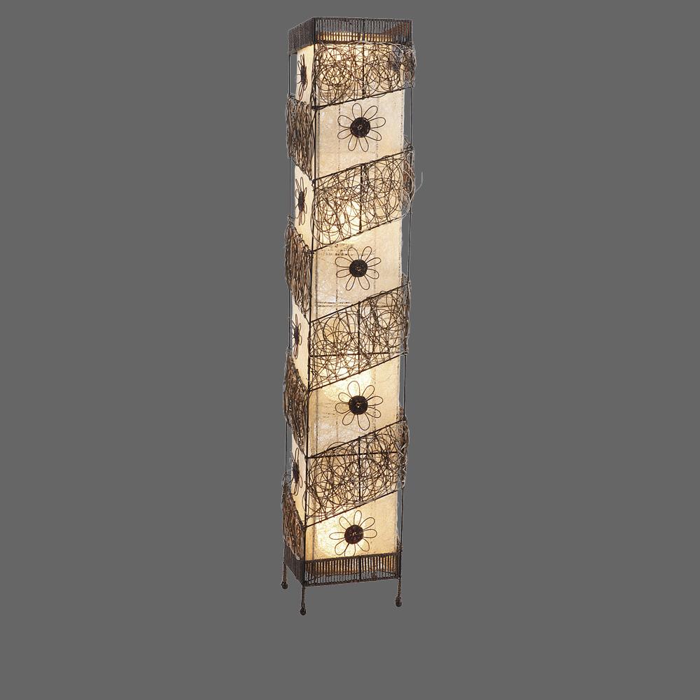 die tolle stehlampe im safari look mit blumenverzierung vom schweizer leuchtenhaus. Black Bedroom Furniture Sets. Home Design Ideas