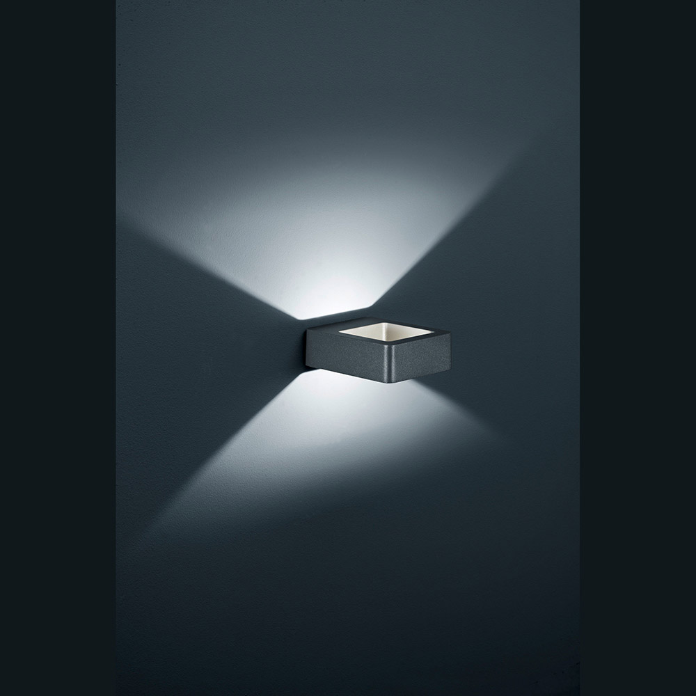 Wandlampe led outdoor ip54 schwarz for Led wandlampe