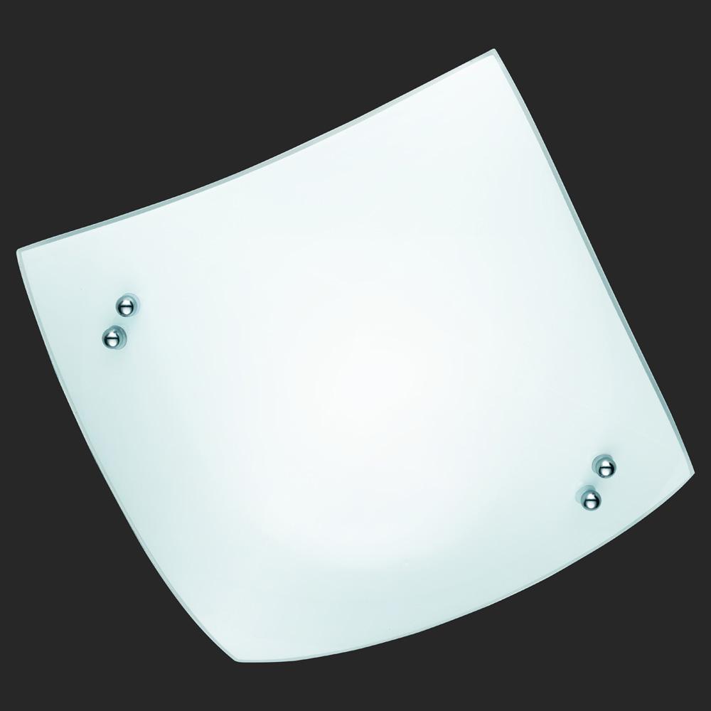 Weisse deckenleuchte viereckig for Deckenlampe viereckig