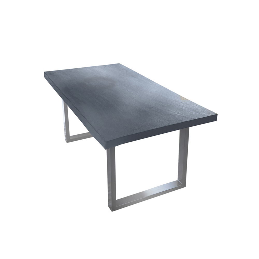 moderner tisch mit platte aus beton. Black Bedroom Furniture Sets. Home Design Ideas