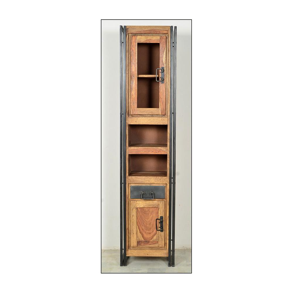 hochschrank f r das badezimmer aus holz. Black Bedroom Furniture Sets. Home Design Ideas