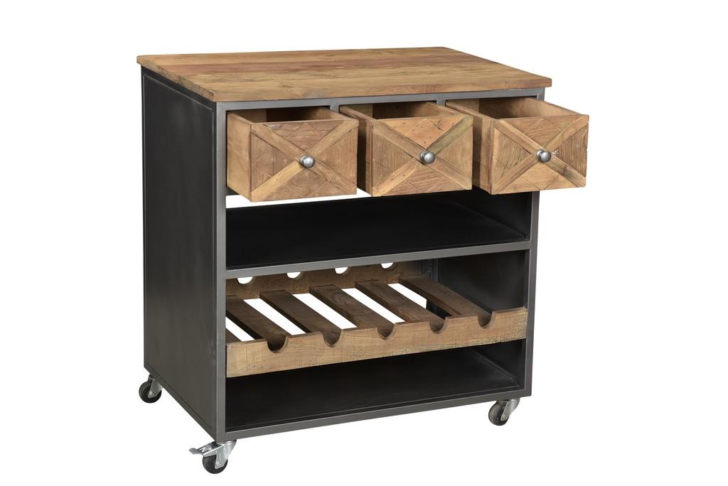 edler k chenwagen mit flaschenablage. Black Bedroom Furniture Sets. Home Design Ideas