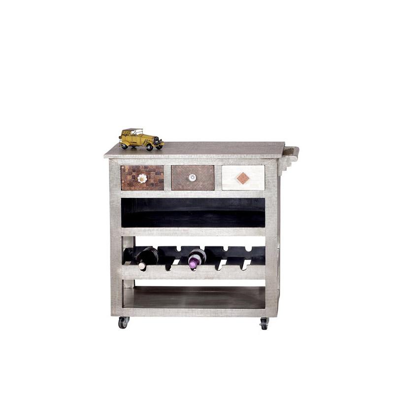 Schmucker Küchenwagen Mit Schubladen Und Flaschenablagen