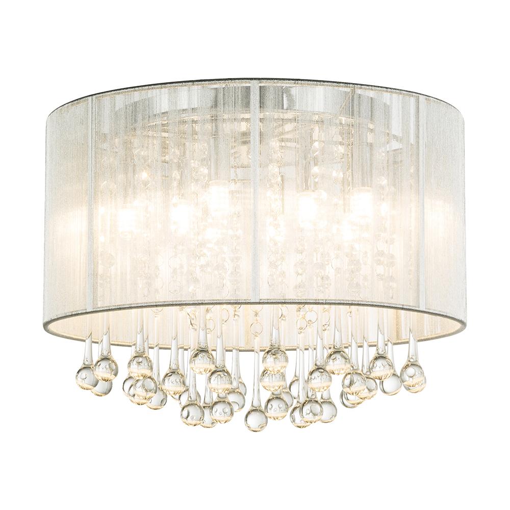 dekorative deckenlampe mit stoffschirm. Black Bedroom Furniture Sets. Home Design Ideas