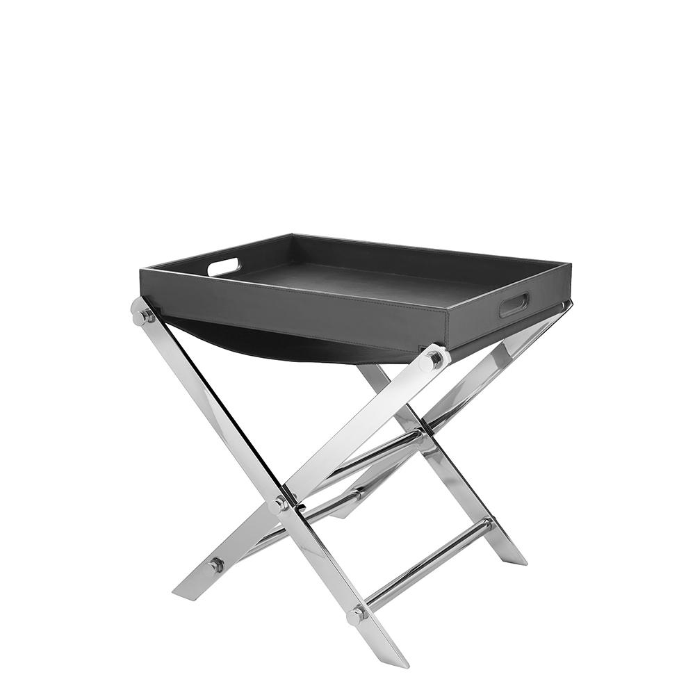 modernes ledertablett mit st nder. Black Bedroom Furniture Sets. Home Design Ideas