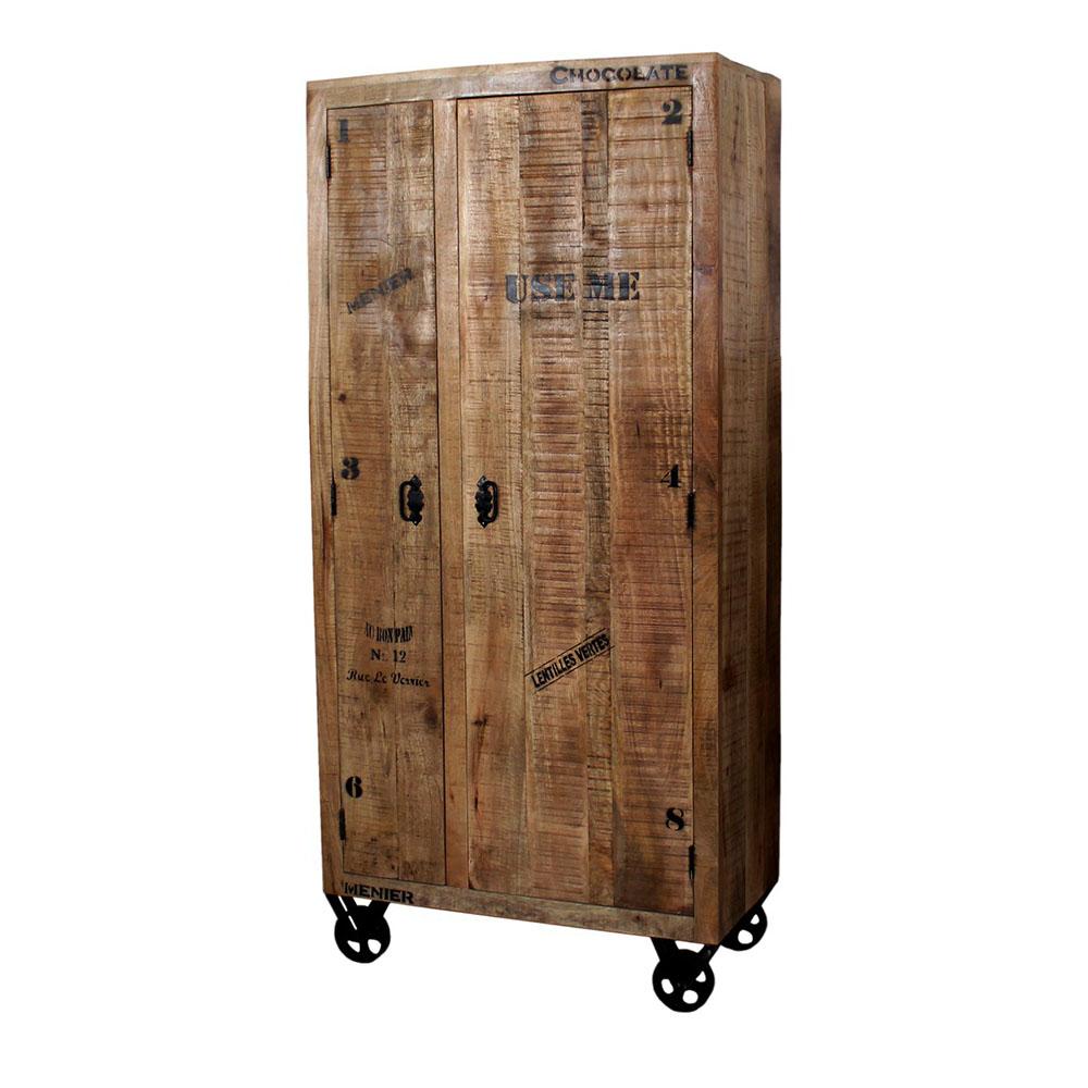 rustikaler schrank aus mangoholz mit antikfinish. Black Bedroom Furniture Sets. Home Design Ideas