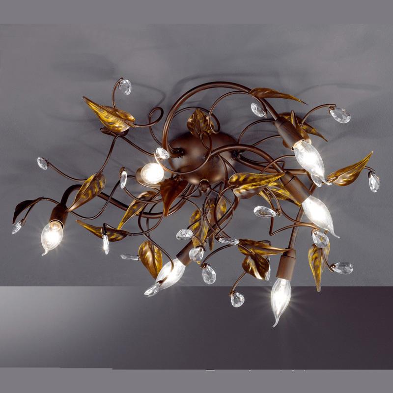 grosse exquisite deckenlampe in antikdesign
