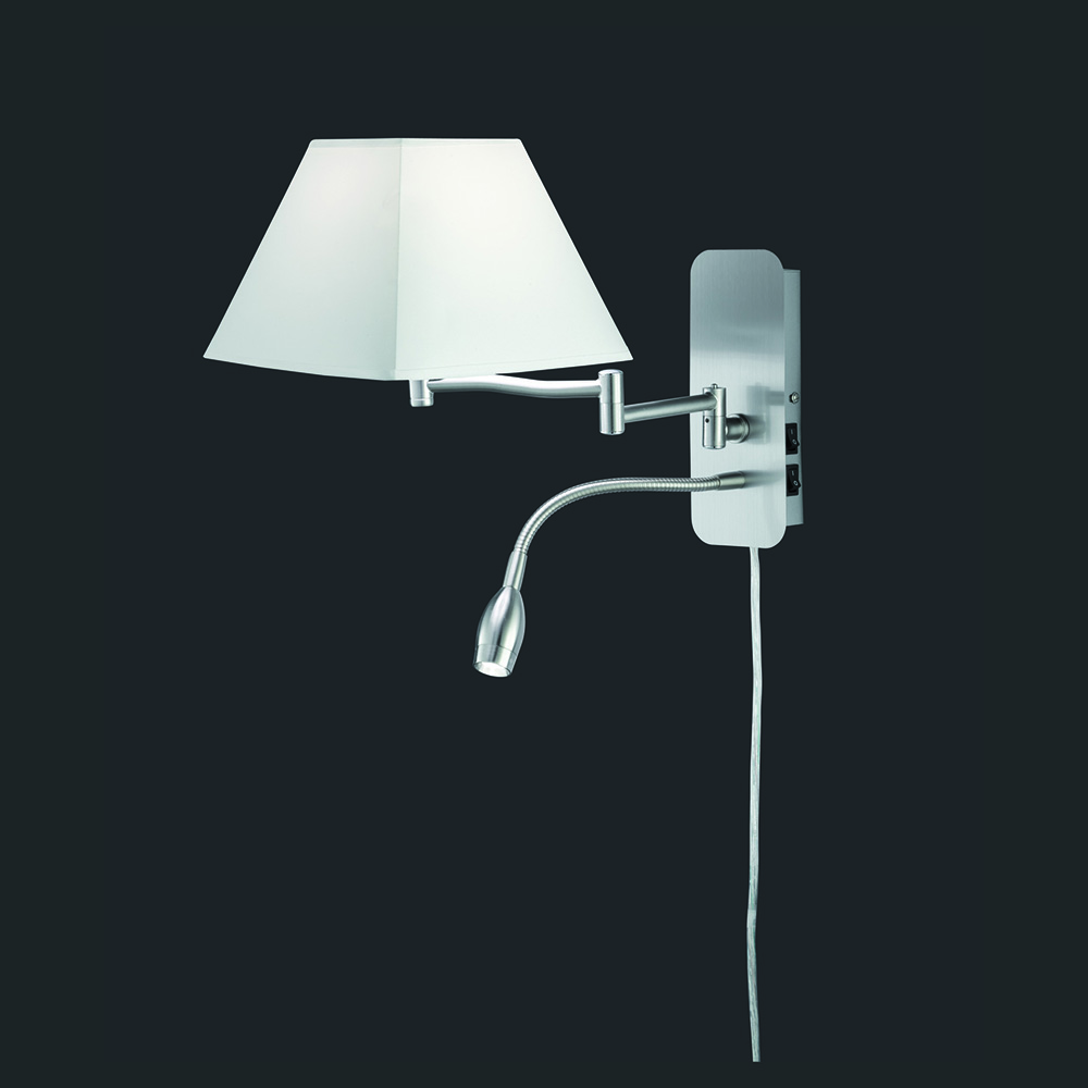 moderne led wandleuchte mit leselicht. Black Bedroom Furniture Sets. Home Design Ideas