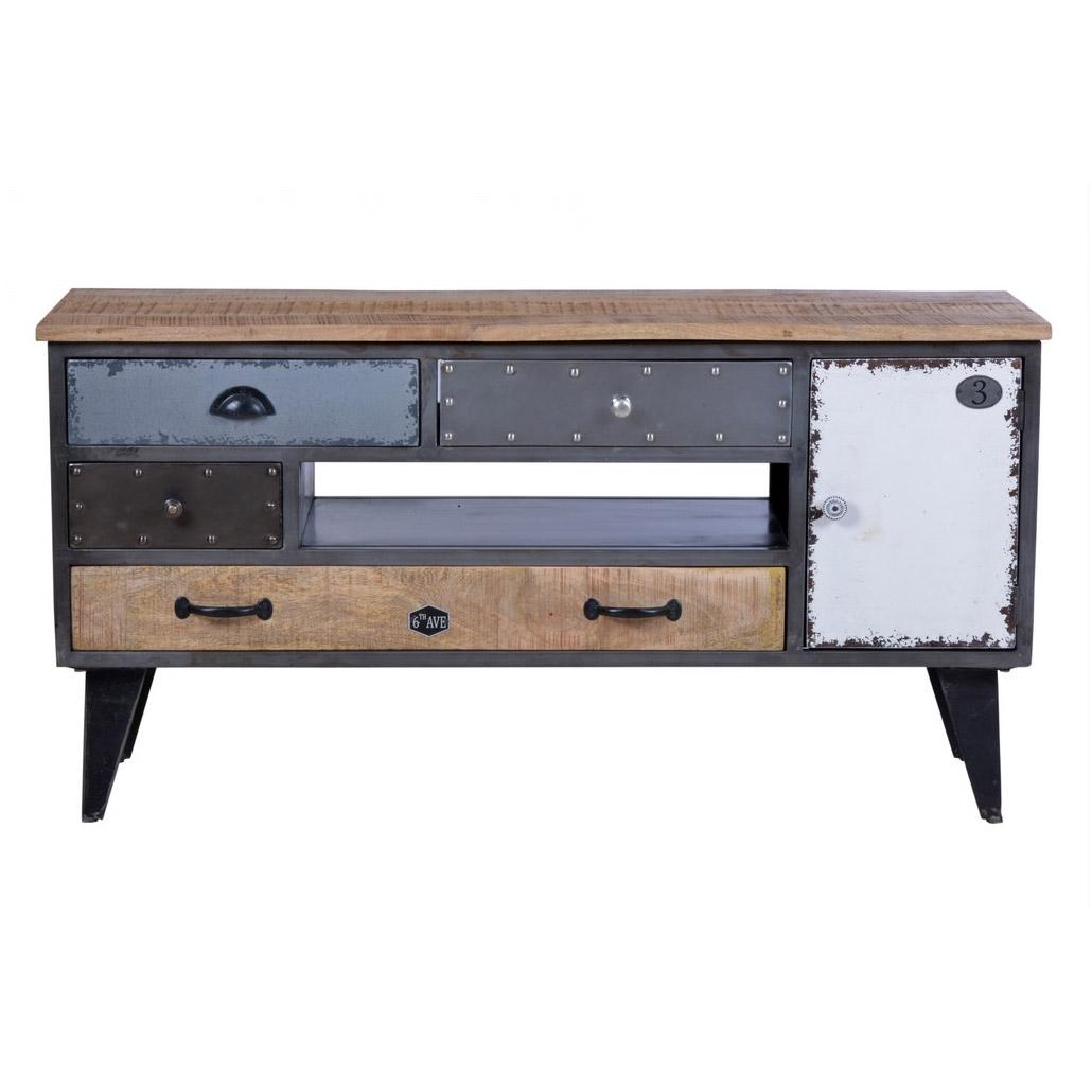 tv lowboard im used look aus hochwertigem mangoholz. Black Bedroom Furniture Sets. Home Design Ideas