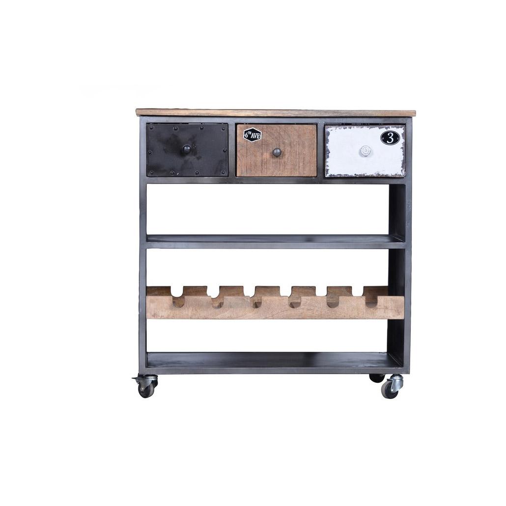 sch ner k chenwagen mit flaschenablage. Black Bedroom Furniture Sets. Home Design Ideas
