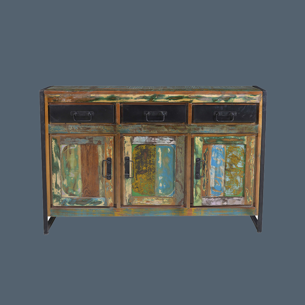 Altholz Sideboard Bunt Lackiert