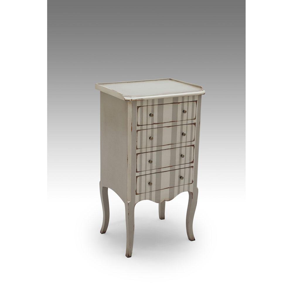 grau weisse handgefertigte kommode aus mahagoni. Black Bedroom Furniture Sets. Home Design Ideas