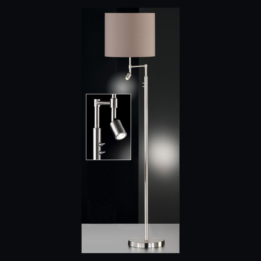 moderne stehlampe in cappuccino. Black Bedroom Furniture Sets. Home Design Ideas