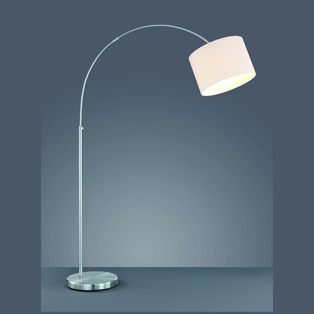 leuchte f rs wohnzimmer mit stoffschirm weiss. Black Bedroom Furniture Sets. Home Design Ideas