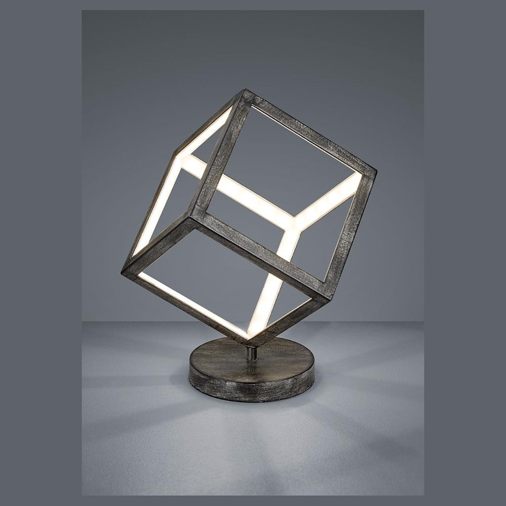 Led Wurfel Als Moderner Lichtspender Auf Dem Tisch