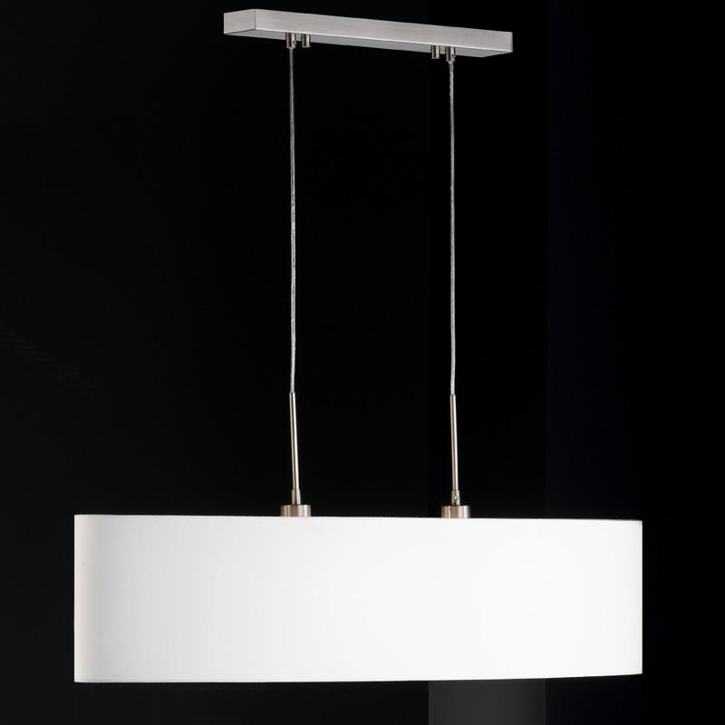 Weisse pendellampe in klassischem design for Pendelleuchte oval stoff