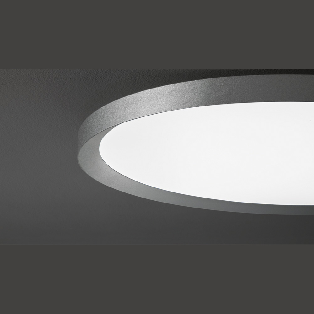 Flache led deckenlampe in ovaler form for Flache deckenlampe
