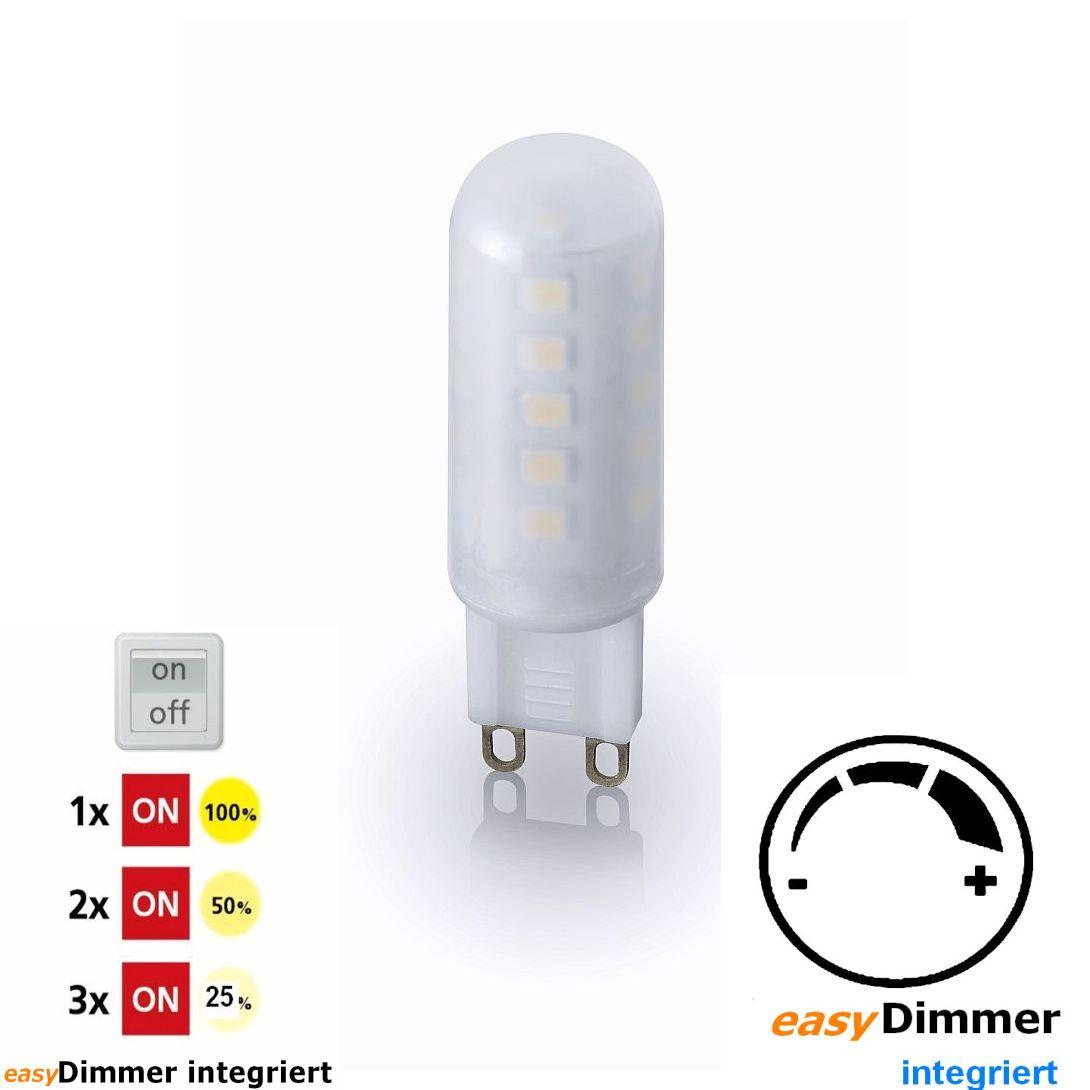 led licht dimmbar per lichtschalter g9. Black Bedroom Furniture Sets. Home Design Ideas