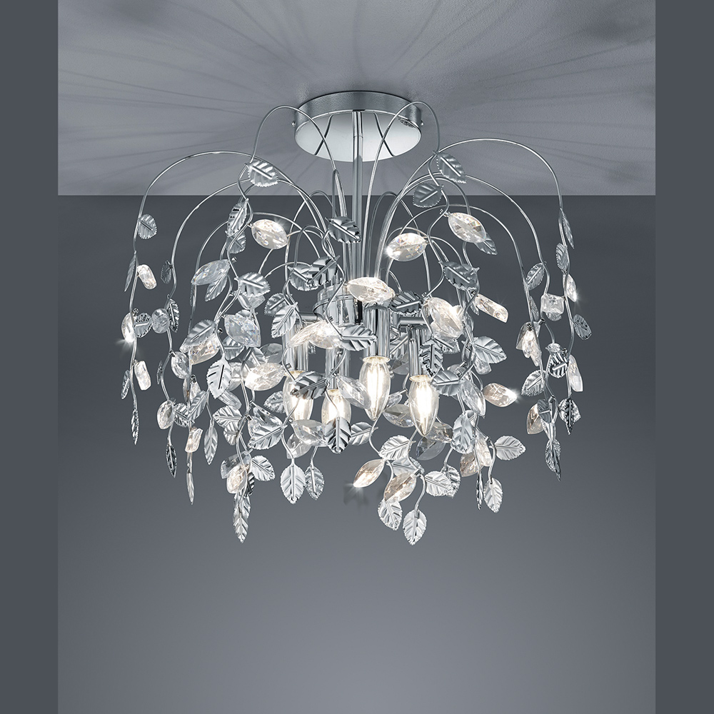 deckenleuchte mit floralem blattwerk f r led lampen. Black Bedroom Furniture Sets. Home Design Ideas