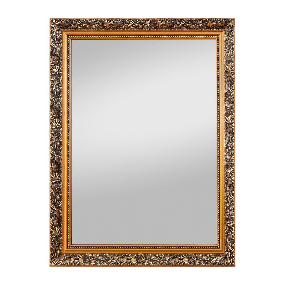 Rechteckiger verzierter Spiegel mit Aufhänger