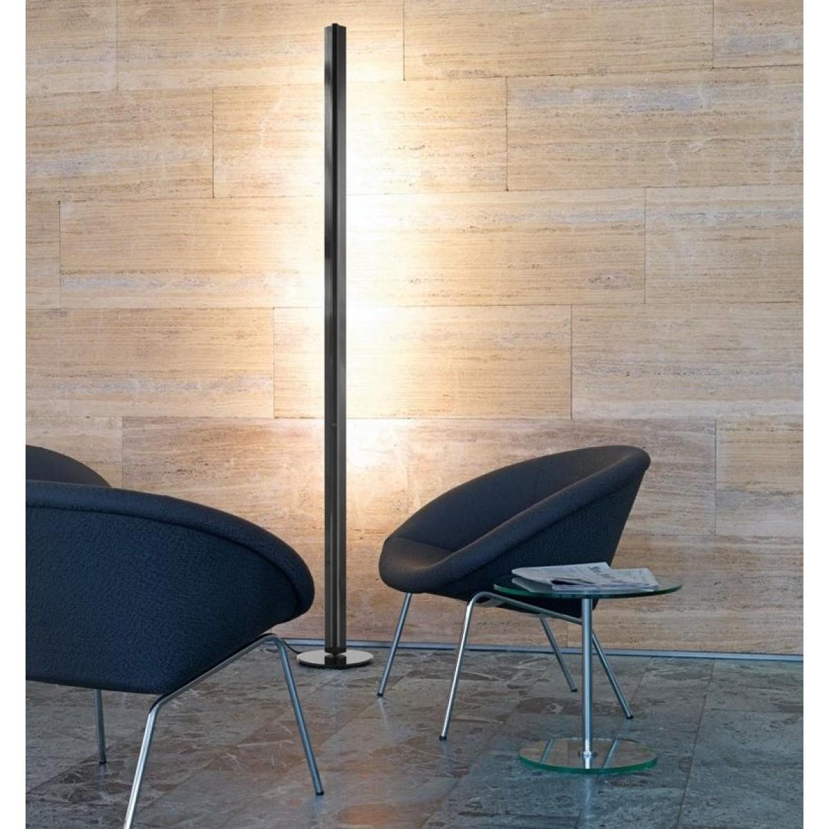 belux ypsilon stehlampe dimmbar schwarz. Black Bedroom Furniture Sets. Home Design Ideas