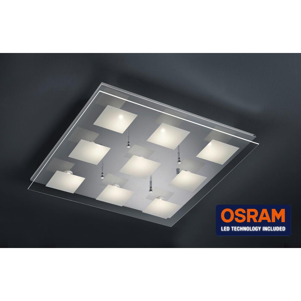 Deckenlampe dimmbar mit 9 hellen osram led for Deckenlampe mit led