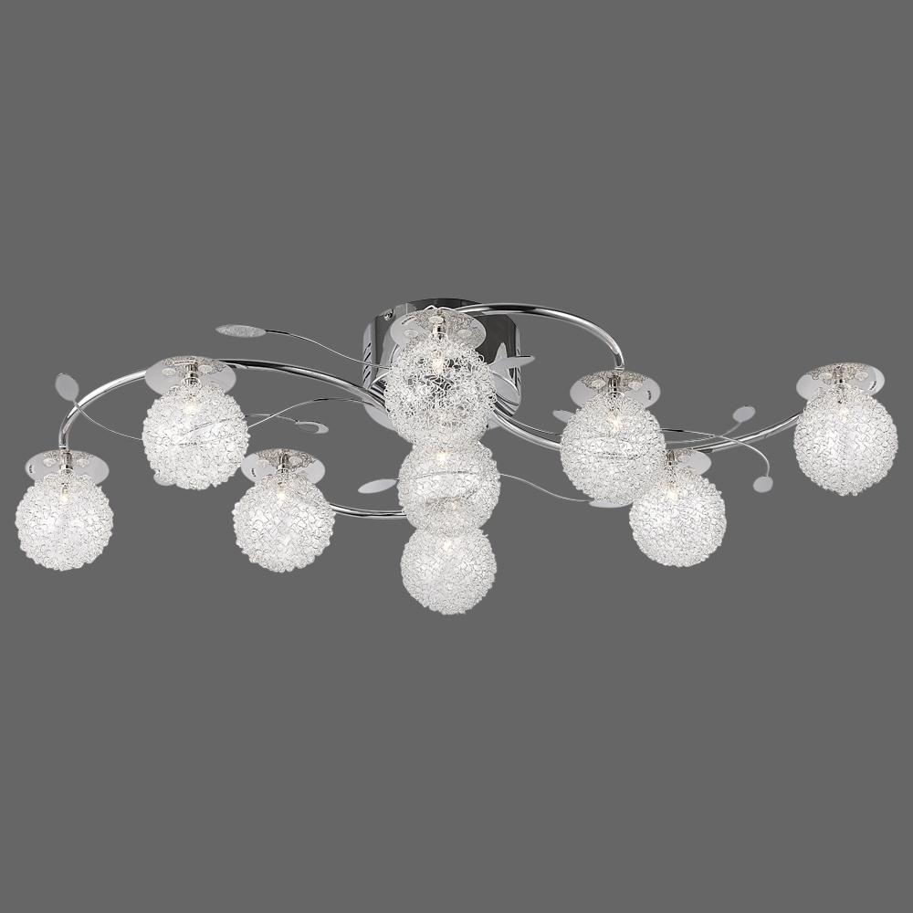 deckenlampe mit leuchten aus kugelgeflecht. Black Bedroom Furniture Sets. Home Design Ideas