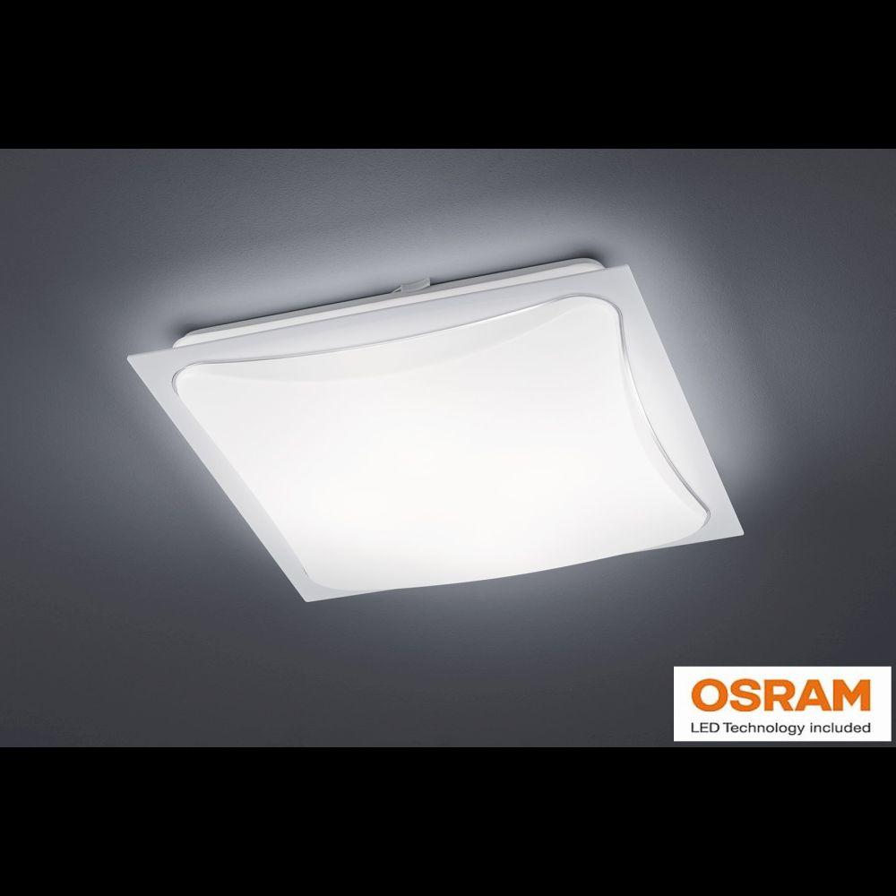 deckenleuchte mit osram led helles licht rahmen in weiss. Black Bedroom Furniture Sets. Home Design Ideas