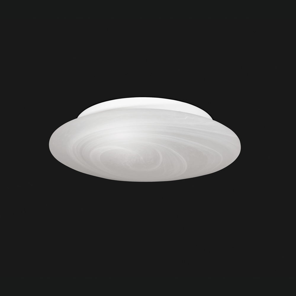 Flache glas deckenlampe klein for Flache deckenlampe