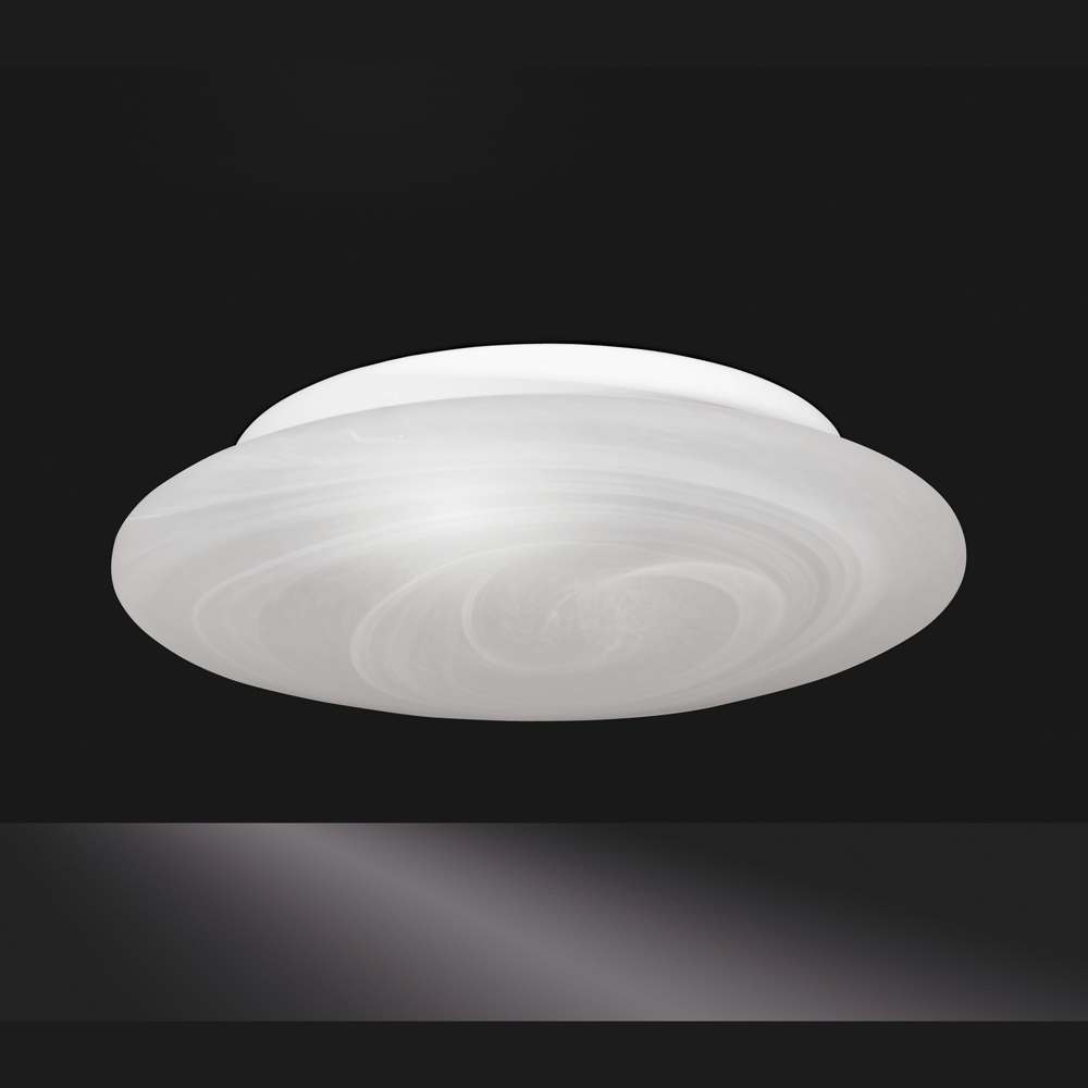 Flache glas deckenlampe mittel for Flache deckenlampe