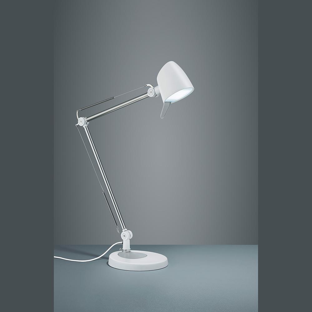 schreibtischlampe in weiss led licht und dimmer. Black Bedroom Furniture Sets. Home Design Ideas