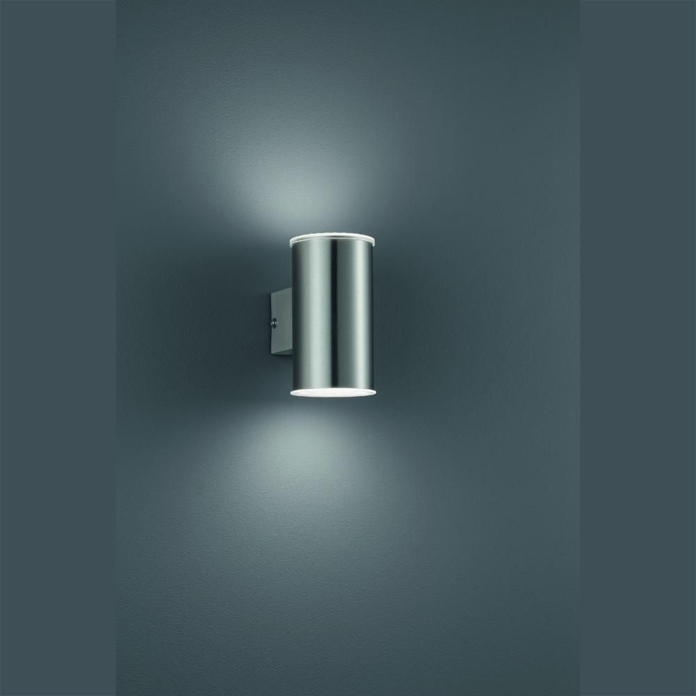 aussenleuchte mit sparsamer led technik f r gute beleuchtung nach oben und unten. Black Bedroom Furniture Sets. Home Design Ideas