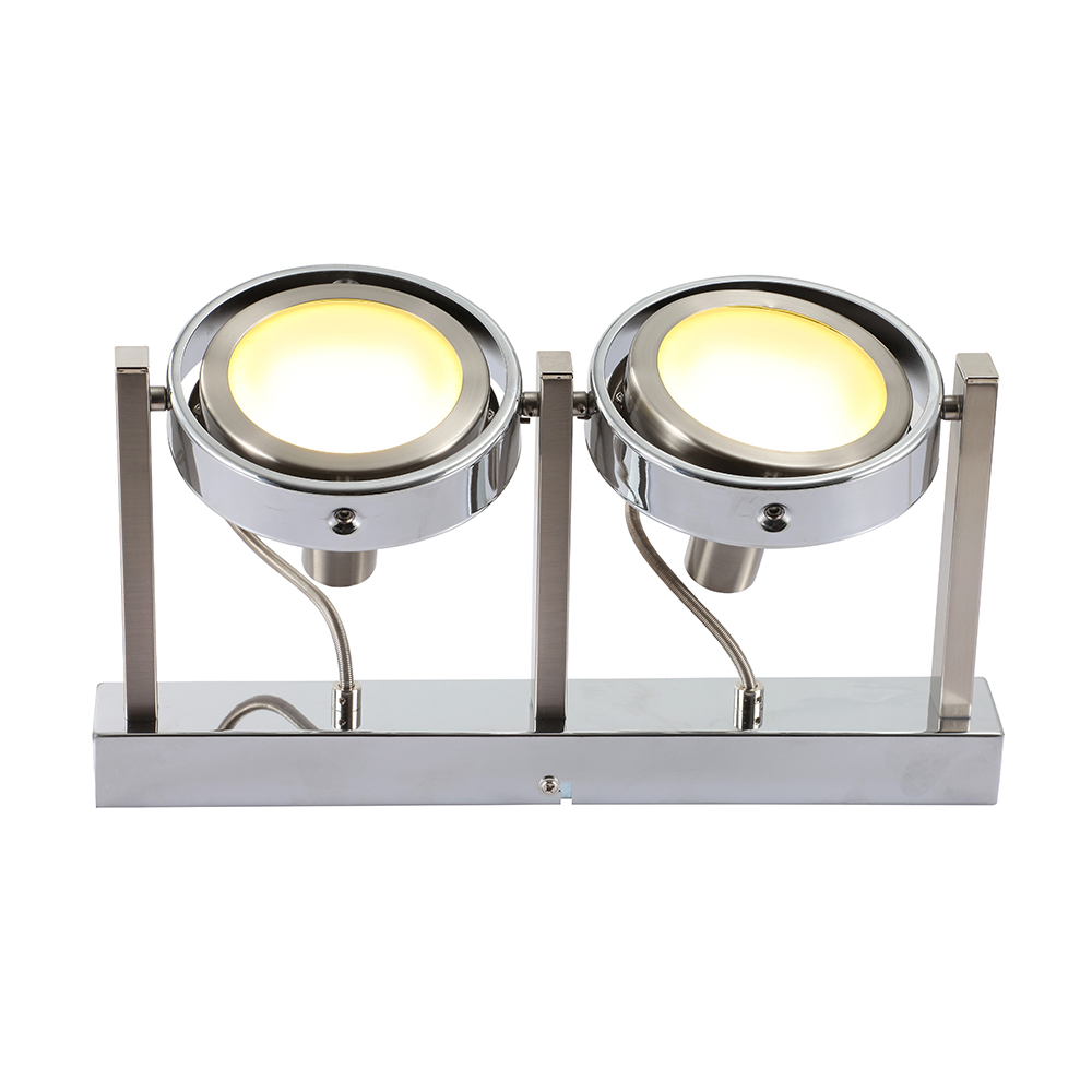 Led wandlampe mit 2 leuchtk pfen for Led wandlampe