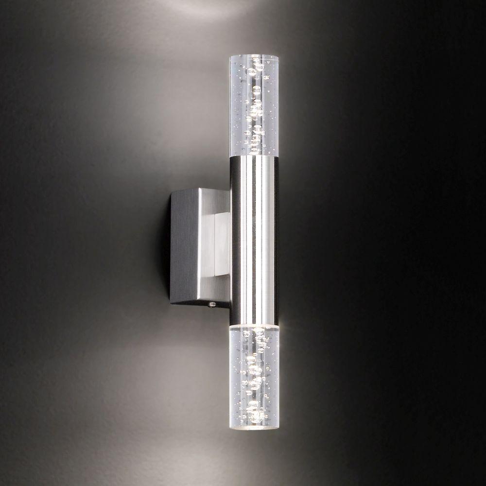 led wandlampe mit dekorativen acrylgl sern. Black Bedroom Furniture Sets. Home Design Ideas