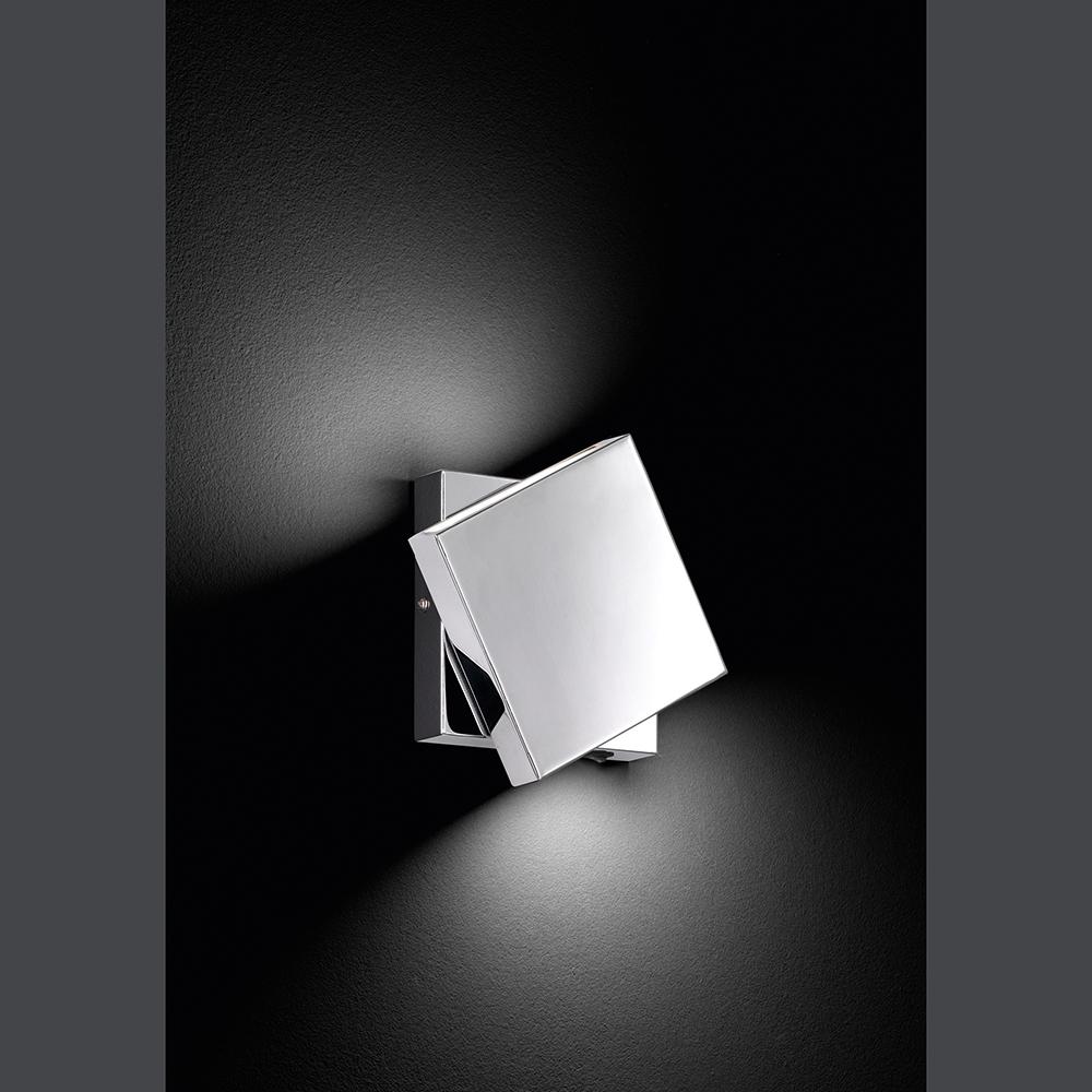 led wandleuchte drehbar in chrom. Black Bedroom Furniture Sets. Home Design Ideas