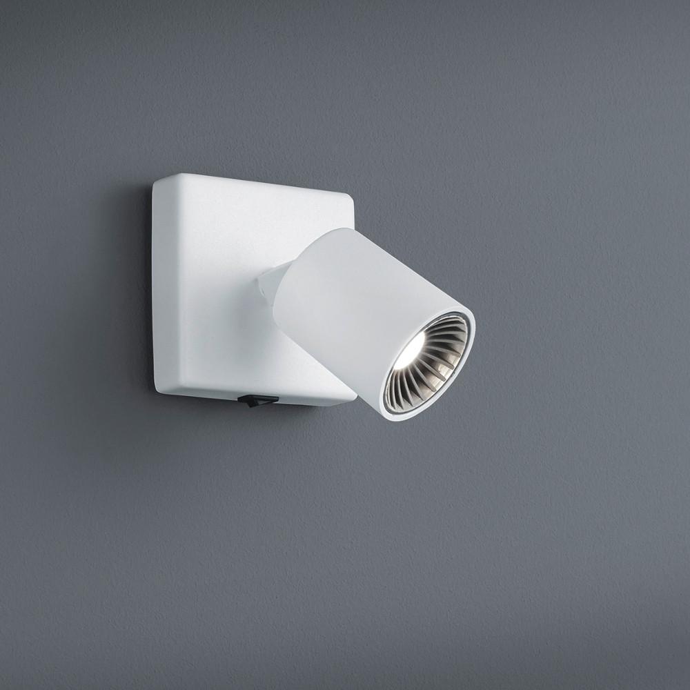 led wandleuchte spot mit schalter metall in weiss. Black Bedroom Furniture Sets. Home Design Ideas