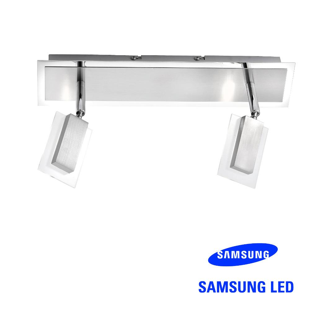 Samsung 2er LED-Strahler Alu gebürstet