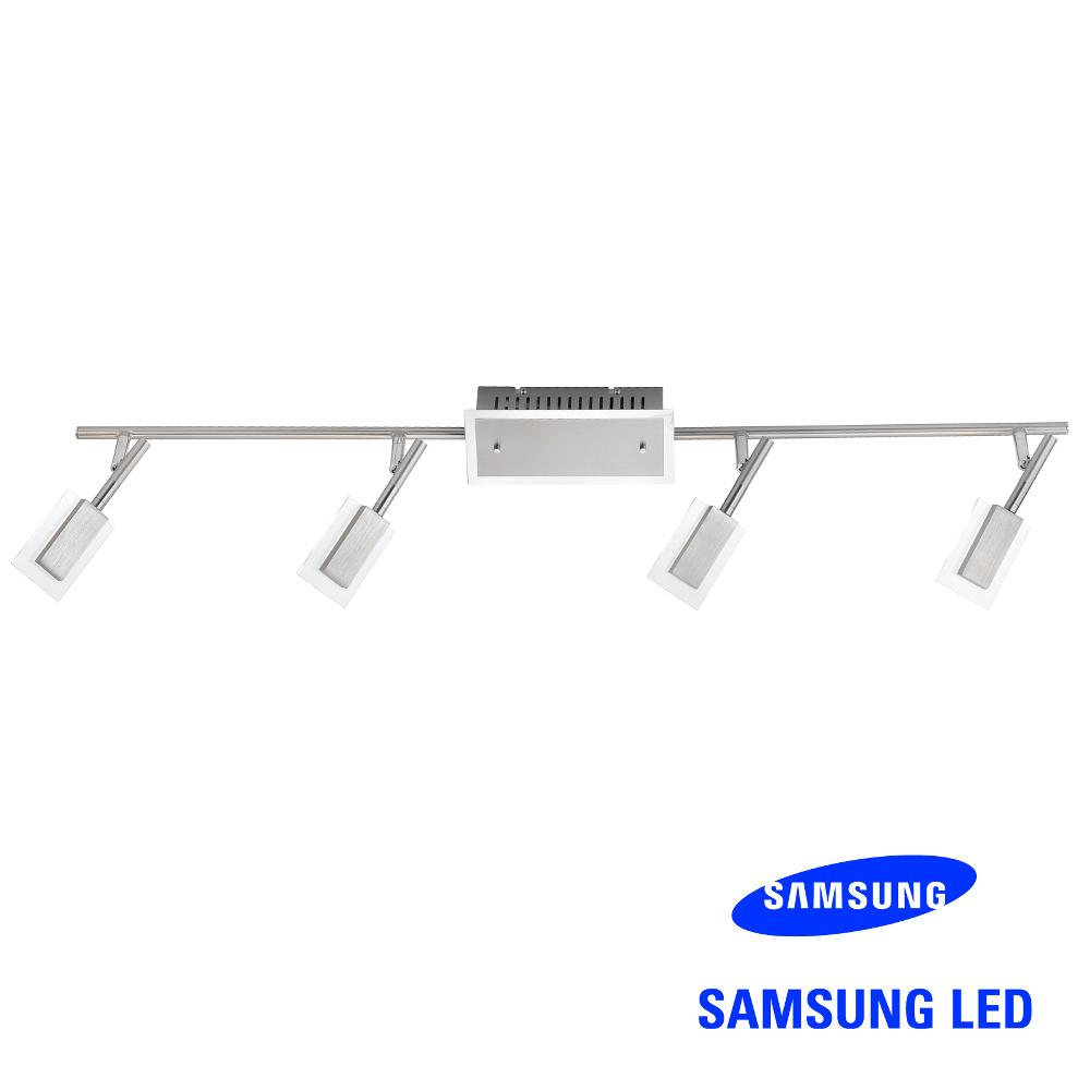 Samsung 4er LED-Strahler Alu gebürstet