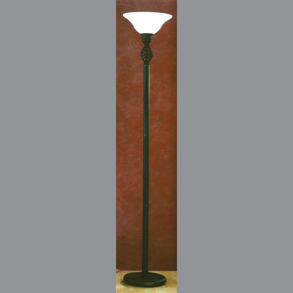 stehlampe auf schlanker s ule. Black Bedroom Furniture Sets. Home Design Ideas