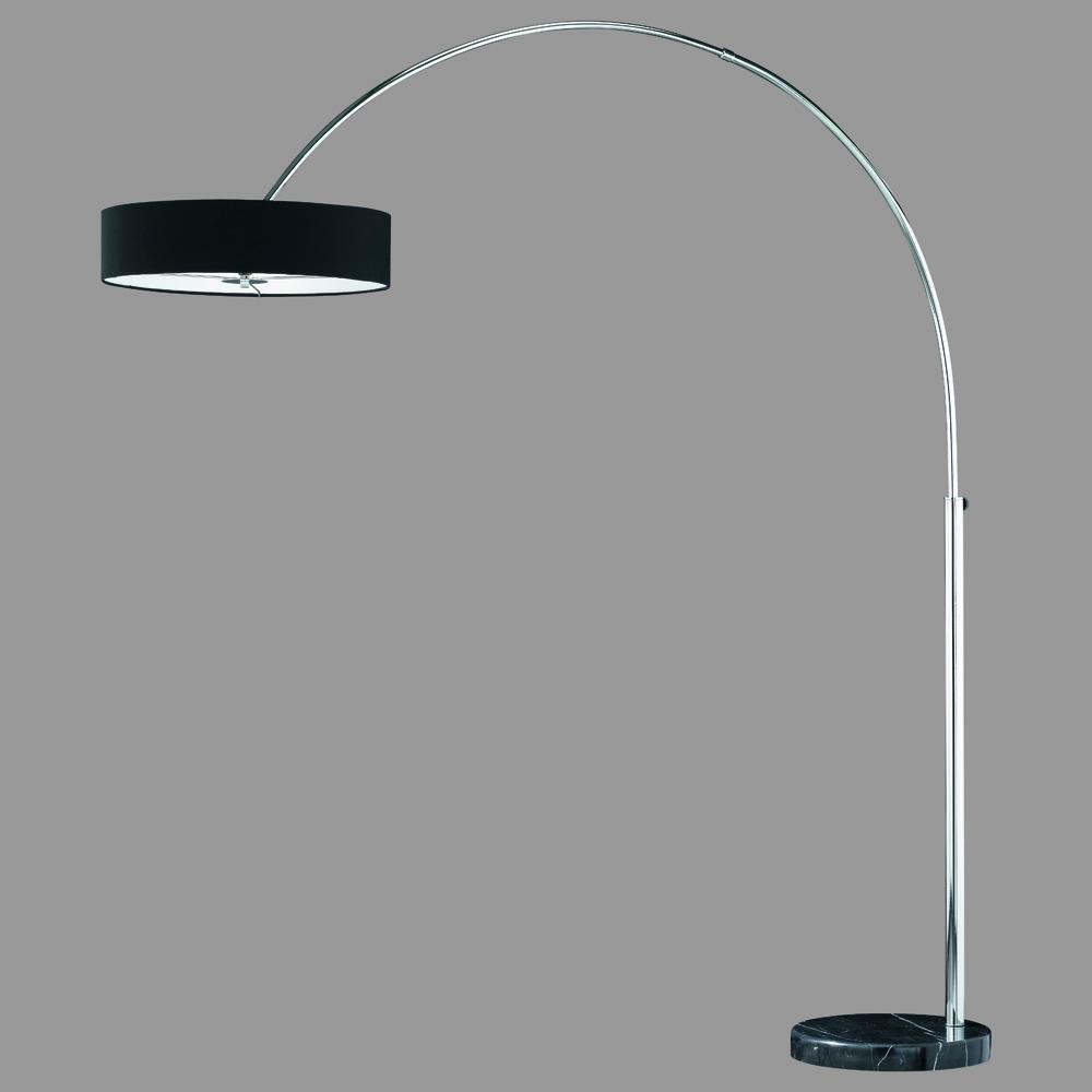 stehlampe bogenleuchte in chrom schwarzem marmor. Black Bedroom Furniture Sets. Home Design Ideas