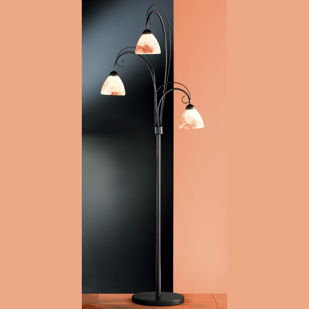 stehlampe mit rauchigem glas. Black Bedroom Furniture Sets. Home Design Ideas